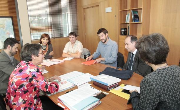 La délégation de la plateforme avec Valérie Fourneyron, ministre des sport, de la jeunesse, de l'éducation populaire et de la vie associative